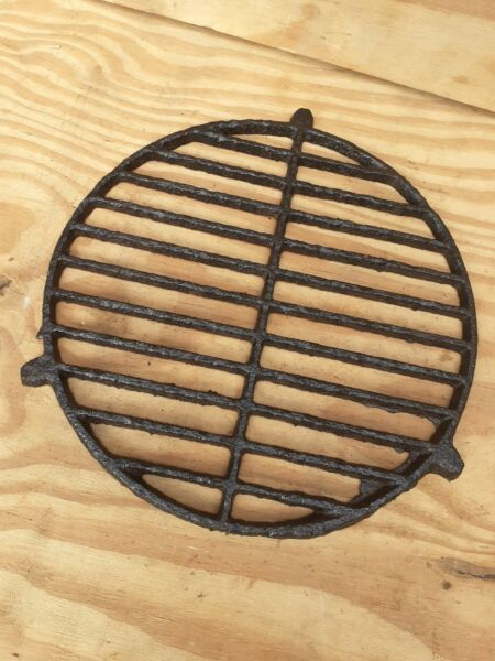 Vintage Old Antique cast Iron Fire Grate Grill French stove circular round rare
