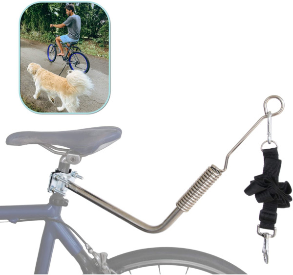 Lumintrail Dog Bike Leash Attachment for Hands Free Dog Walking and Exercise $45.92