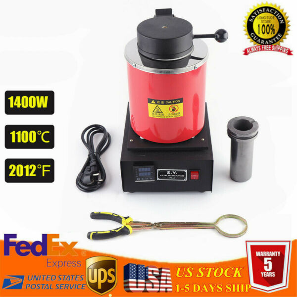 Auto Electric Melting Furnace 2KG Gold Melting Furnace 2102℉ For Precious Metals $192.85