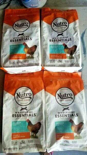 4 x Nutro Feed Clean Wholesome Essentials Indoor Cat Food 3 lbs Each 4 Bags $28.50