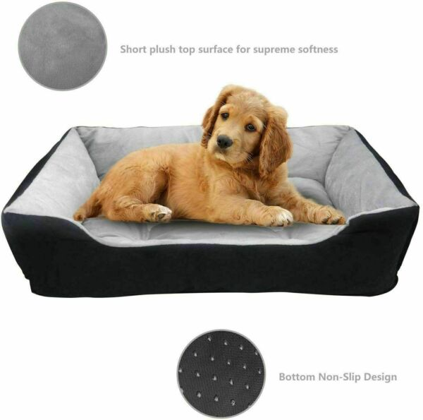 Dog Bed Puppy Beds with Non Slip Bottom Cat Bed Couch Pet Bed Rectan $19.99