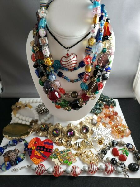 Lovely large lot vintage jewelry all wearable