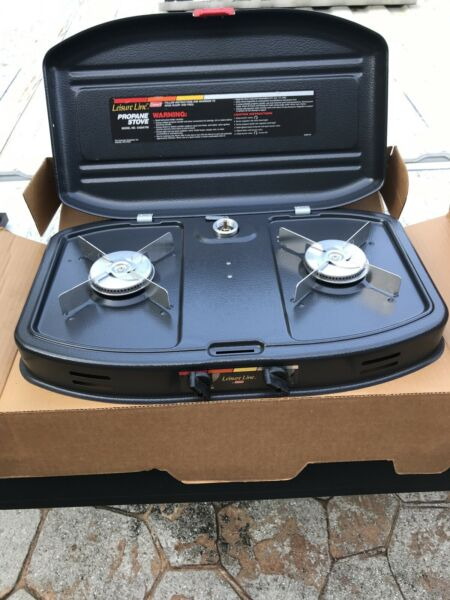 "COLEMAN 2 BURNER PROPANE STOVE #5420 700 With Regulator 19"" X 12 New Unused"