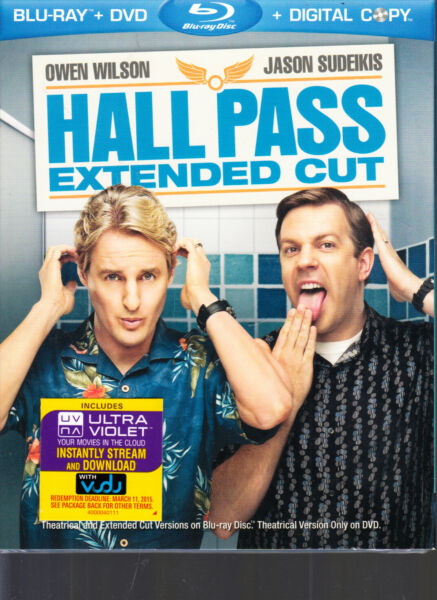 Hall Pass: Extended Cut Blu ray 2011 Warner Bros. WITH SLIPCOVER T3 $8.00