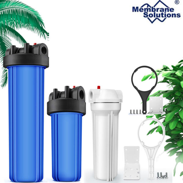Whole House Big Blue Water Filter Housing Multi stage RO Water Purifier Filter