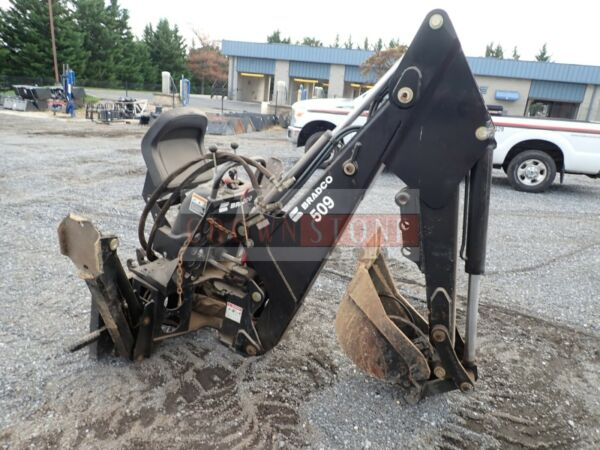 BRADCO 8509X BACKHOE ATTACHMENT 12quot; BUCKET OUTRIGGERS TOWNSHIP OWNED