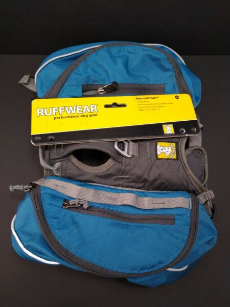 NWT Ruffwear Approach Pack Dog Hiking Backpack Pacific Blue Small XS $47.96