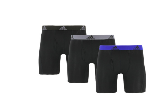 Adidas Men#x27;s RELAXED Performance Boxer Briefs With Fly UNDERWEAR 3 Pack
