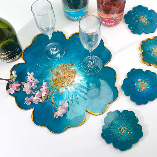 DIY Silicone Flower Coaster Pad Casting Mold Resin Making Mould Craft Tools New $7.89