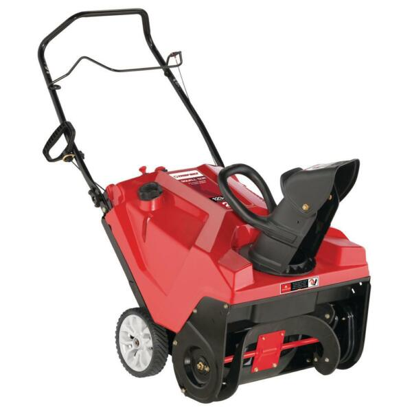 Troy Bilt Gas Snow Blower E Z Chute Control 21 in. 123 cc Paved Single Stage