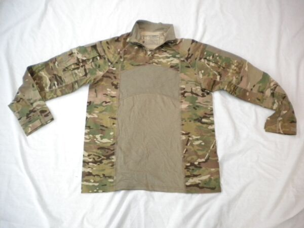 US ARMY MULTICAM ARMY COMBAT SHIRT TYPE II 1 4 ZIPPERED COMBAT SHIRT SZ MEDIUM