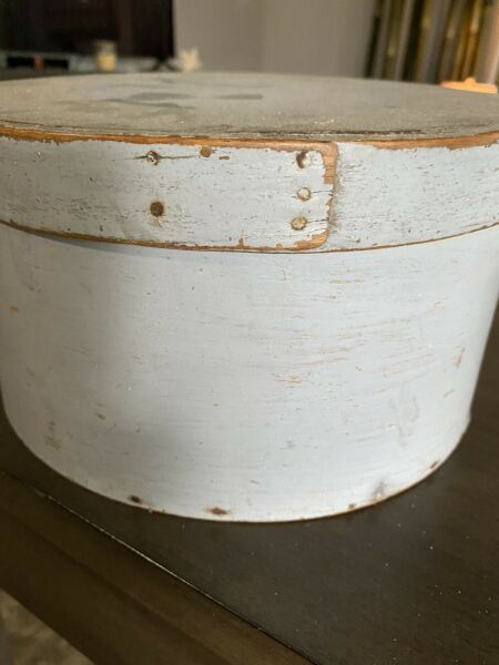 Antique Primitive Pantry Box In Gray Aafa