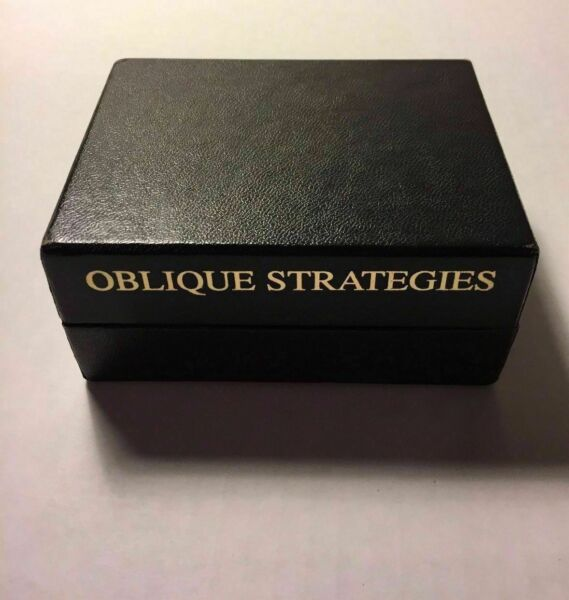 Brian Eno Oblique Strategies Cards 2001 Over One Hundred Worthwhile Dilemmas $129.99