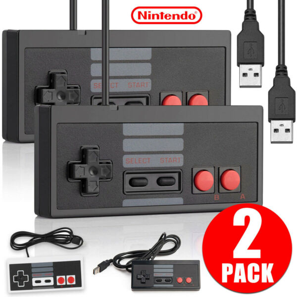 2 x NES Gaming USB Controller Gamepad For Nintendo NES Windows PC Mac RetroPie