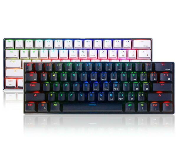 Royal Kludge RK61 Mechanical Gaming Usb Wired Bluetooth Keyboard Rgb Backlit
