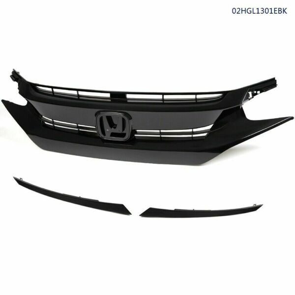 Fit 2016 2017 2018 HONDA CIVIC Mesh Grille Front Hood Grille Factory Style $68.99