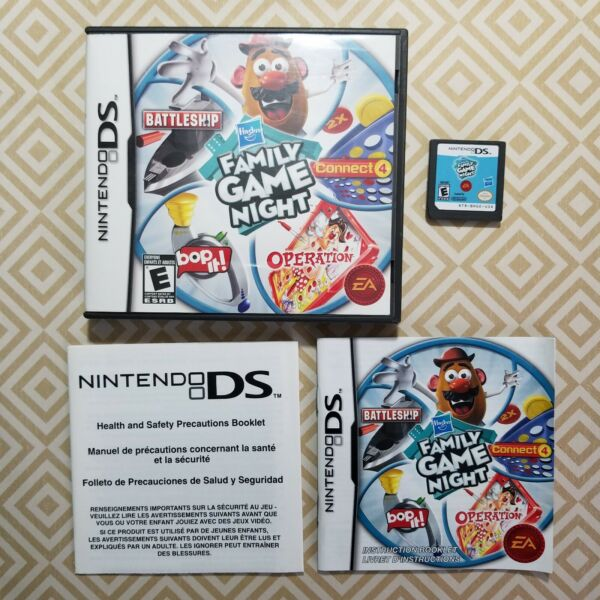 Hasbro Family Game Night Nintendo DS 2009 Cart Case amp; Manual