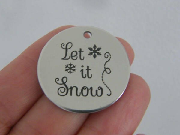 1 Let it snow stainless steel pendant JS1 32