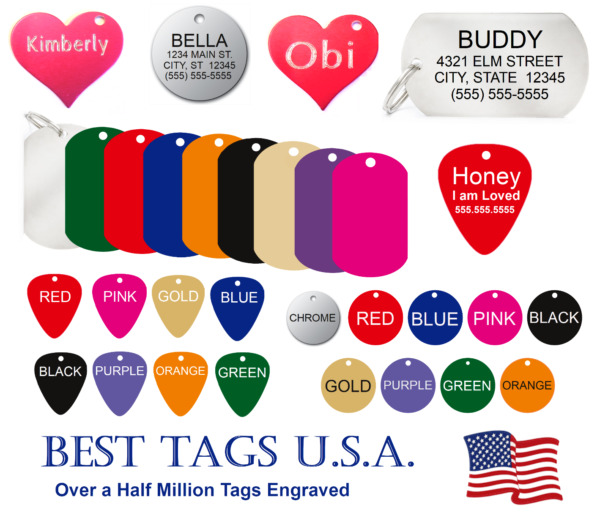 Dog tags personalized Dog Cat Pet ID Deep Engraved gt;gt;TAGS From $2.39 Shipped lt;lt; $2.79