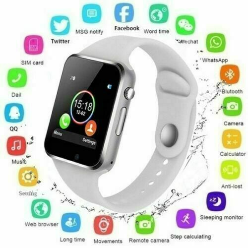 Bluetooth Smart Wrist Watch A1 w Camera GSM Phone For iPhone Android Samsung LG $13.95