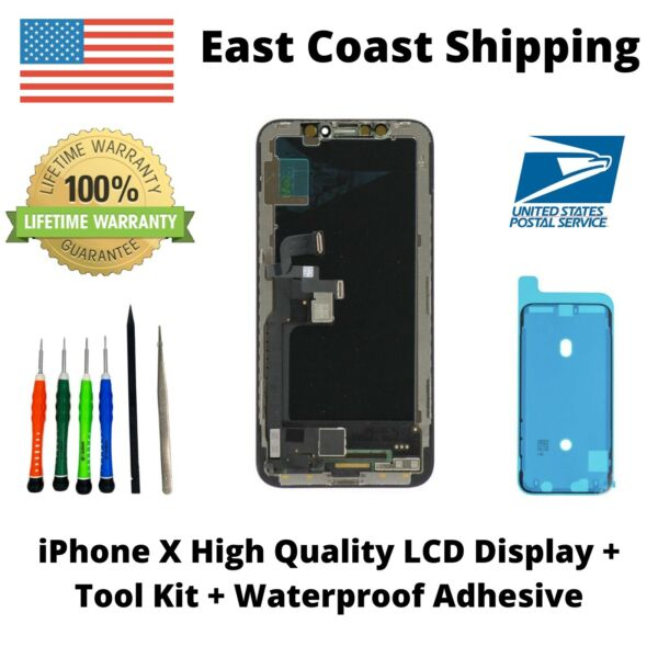 USA OEM Quality Premium LCD for iPhone X Display Digitizer Screen Assembly