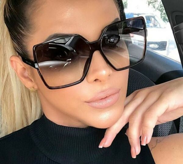 OVERSIZED Sunglasses YOUR SAINT Women Lady Flat Top Big Huge Sunnies Gafas SHADZ