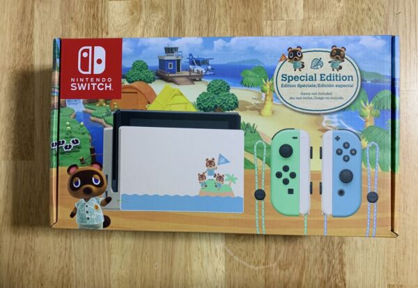 BRAND NEW Nintendo Switch Animal Crossing Console New Horizon SPECIAL EDITION