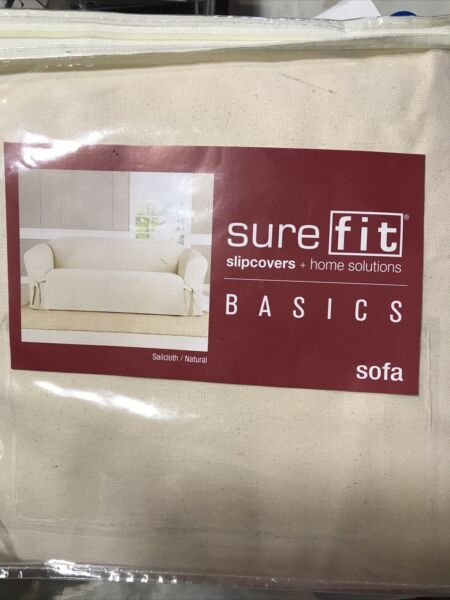 🍁 SureFit Slipcover For Sofa Sailcloth Natural ‼️See Pictures‼️ $39.99