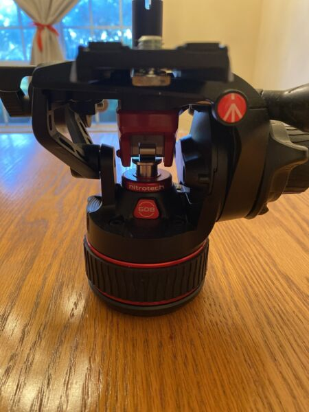 Manfrotto 608 Nitrotech Fluid Video Head 17.64 lb Load Capacity #MVH608AHUS