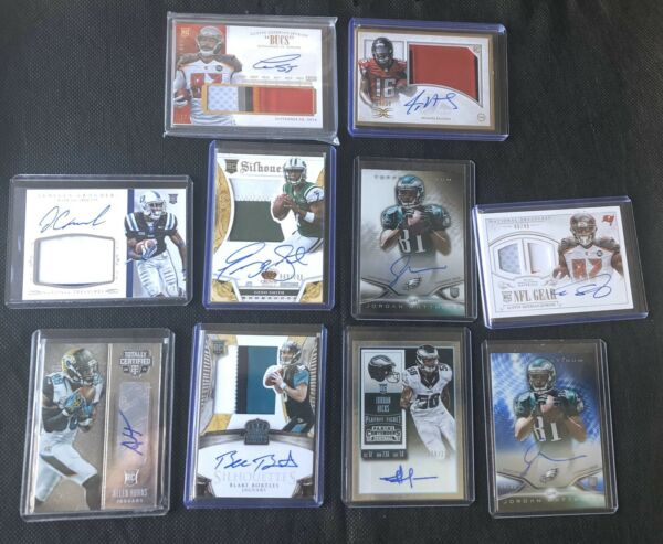 Lot Of 50 NFL Football Rookie Cards. Plus An Addition Auto Or Game Used Jersey