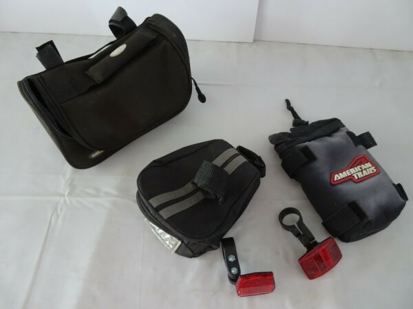 BIKE ACCESSORIES Bicycle Bags Pouch Red Reflectors Lot 5 Bell $10.99
