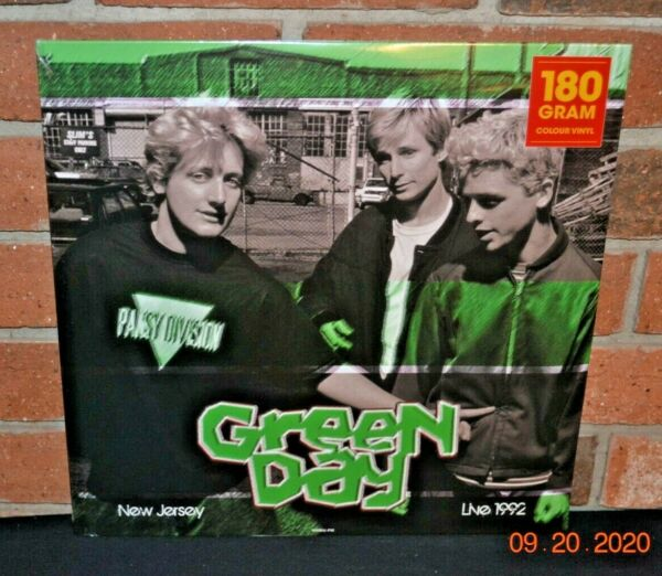GREEN DAY Live In New Jersey 1992 Ltd Import 180G WHITE COLORED VINYL LP New