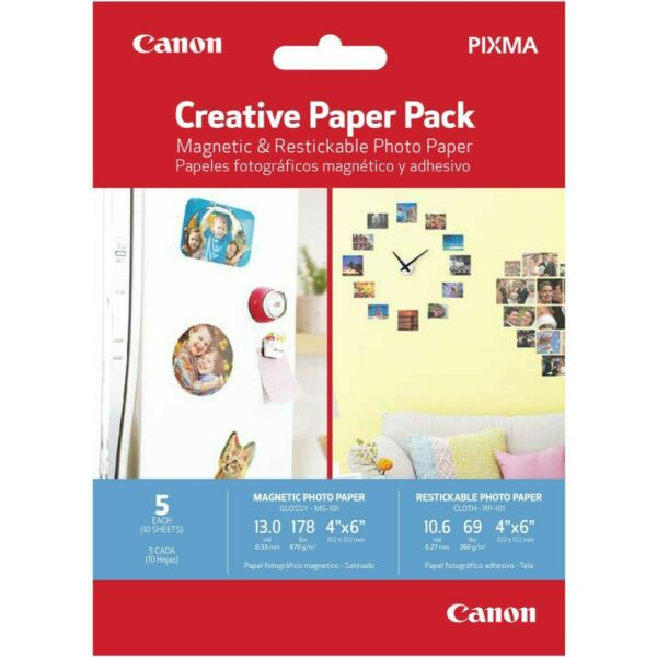 CANON Magnetic amp; Restickable Photo Print Paper your pictures on Refrigerator