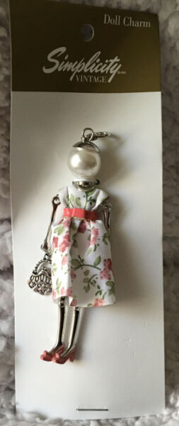 Simplicity Vintage 4quot; Doll Charm NANCY Vintage Look NEW Lobster Claw