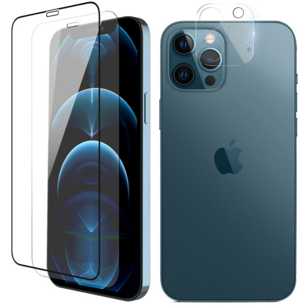For iPhone 13 12 Pro MaxMini Full Coverage Tempered Glass Lens Screen Protector