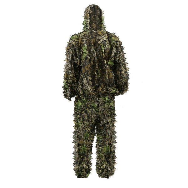 Kids 3D Leaves Ghillie Suits Outdoor Clothing Jungle Woodland Hunting Game US