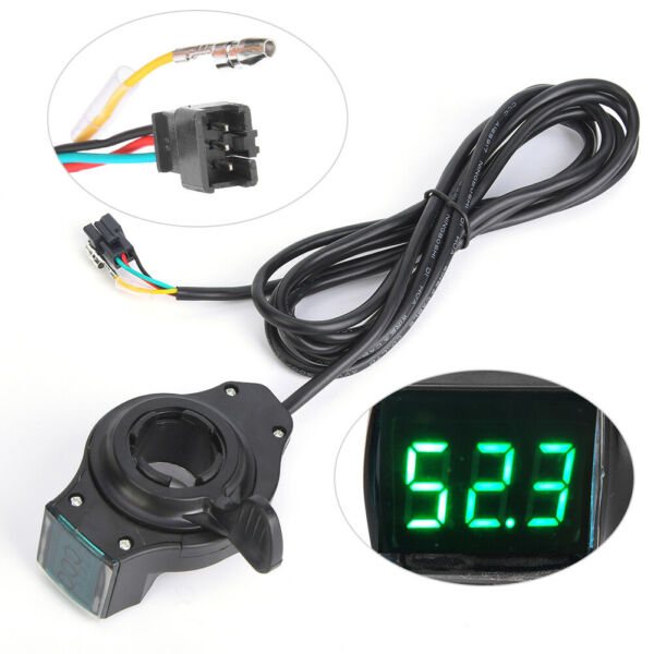 12V to 99V Electric Bicycle E bike Bike Thumb Throttle Switch Voltage Display US $14.05