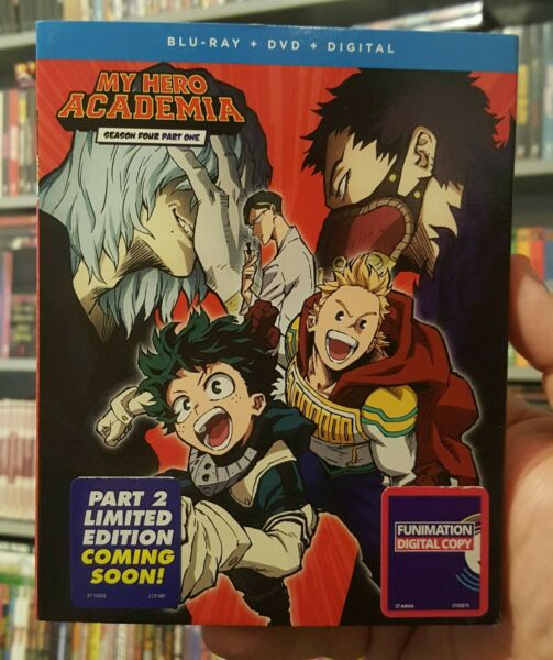 MY HERO ACADEMIA SEASON 4 PART 1 BLU RAY DVD SLIPCOVER DIGITAL BRAND NEW $23.99