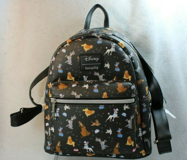 Loungefly Hot Topic Disney Mini Backpack DOGS LADY and the TRAMP 101 DALMATIANS $59.95