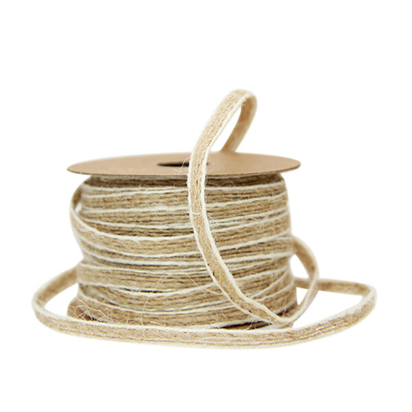 Twine String Natural Burlap Ribbon Roll For DIY Art Crafts Wedding Decoration LH