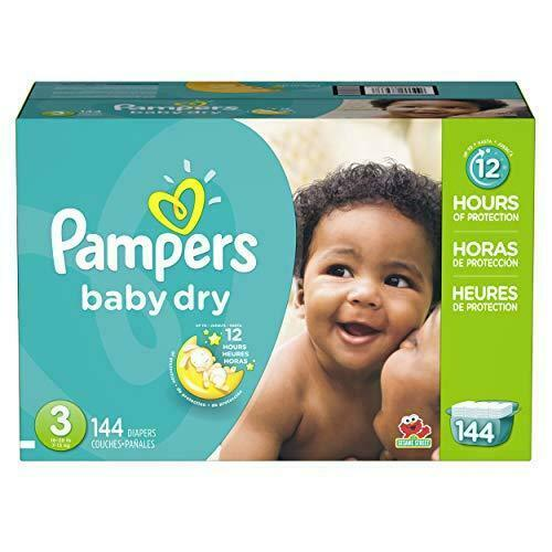 Diapers Size 3 144 Count Pampers Baby Dry Disposable Baby Diapers Giant Pack $41.99