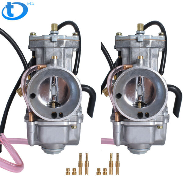 2 X Carburetors For Yamaha Banshee 34MM 34 Mil Larger Carbs PWK One Pair $64.00