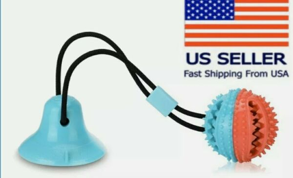 Pet Molar Bite Toy Dog Tug Rope Ball Chew Toys Pet Tooth Cleaning Suction Cup $12.99