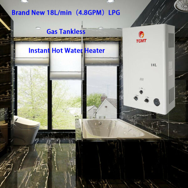 18L LPG Gas Hot Water Heater Propane Instant Boiler Digital Display Home Demand $124.99