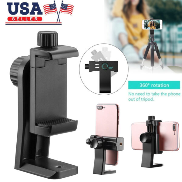 Cell Phone Tripod Adapter Holder Smartphone Mount For Samsung iPhone X Universal