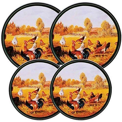 Reston Lloyd Electric Stove Burner Covers Set of 4 Rooster Pattern