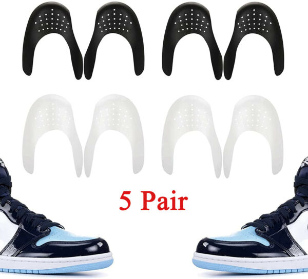 5 Pair Anti Crease Shoe Cover Toe Creasing Protector Force Fields Shoes Care $12.95