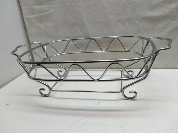 Wire Frame Dinner Buffet Chafing Dish Rack Stand Food Warmer 12 3 8 x 8 3 4 x 2