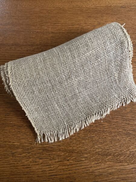 Burlap Table Runner Rustic Farmhouse Decor Wedding Fall Holiday EUC Free Ship