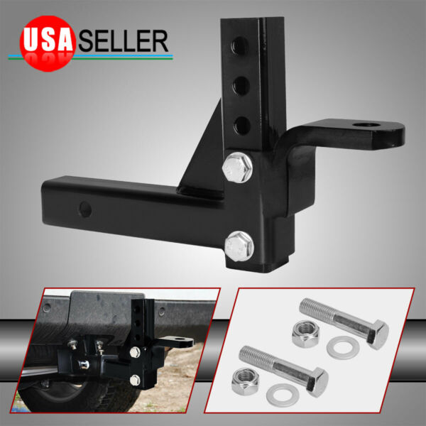 2quot; Receiver Trailer Hitch Adjustable Ball Mount 10quot; Drop Towing Heavy Duty $28.99